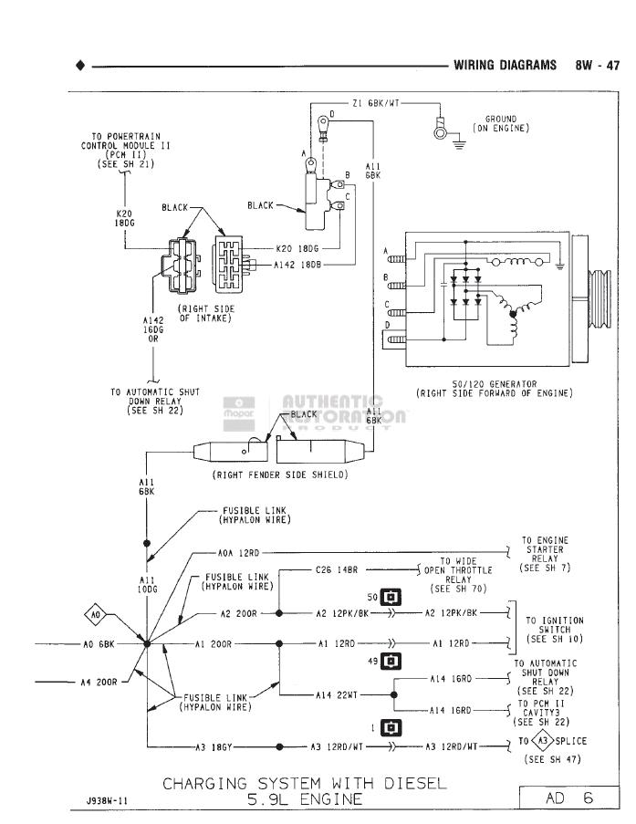 8W 47 2001 ford taurus & mercury sable wiring diagram manual original Alternator Wiring Diagram at soozxer.org