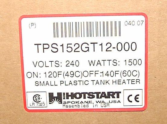 Hotstart label.